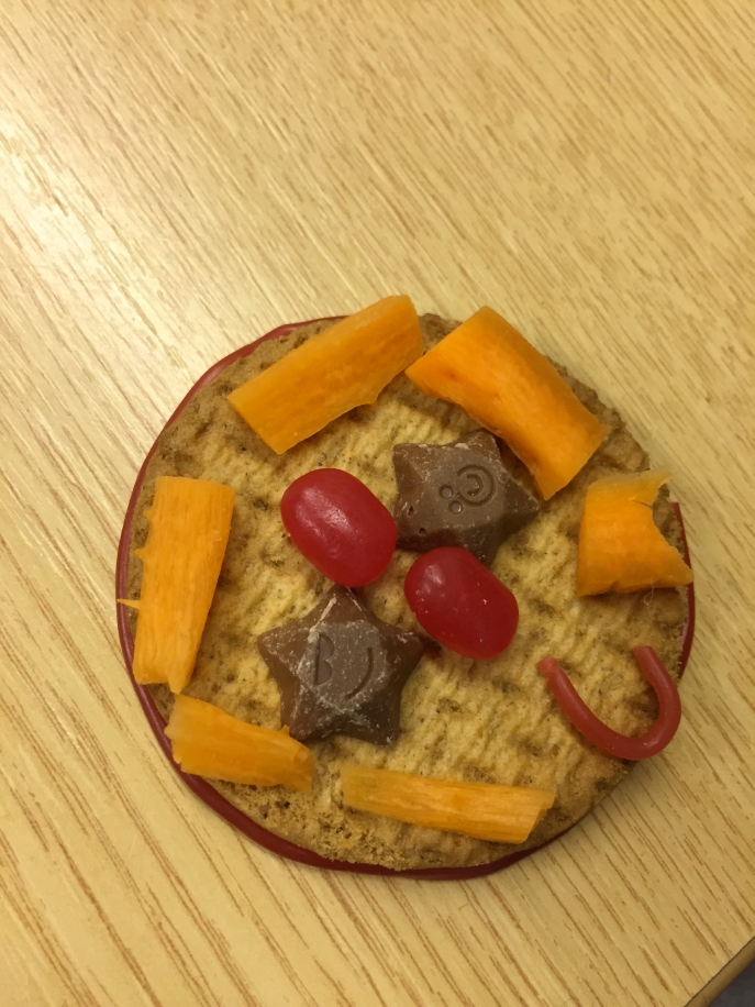 If you squint, it looks like a world badge.  Bigger biscuit would have helped!