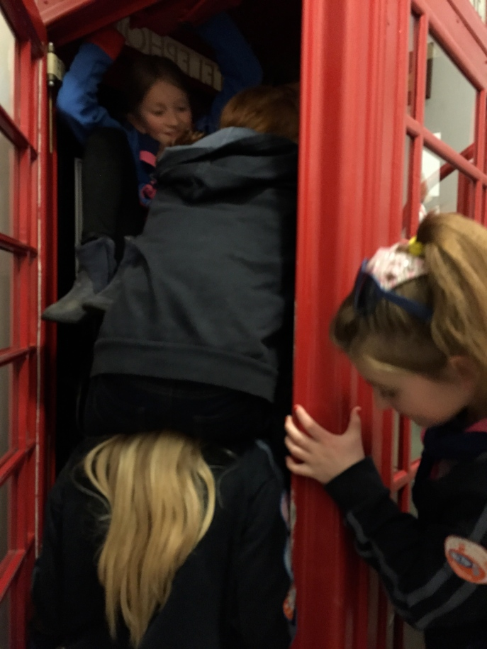 How many Guides can you fit in a phone box?